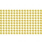 Naklejki błyszczące kryształki złote