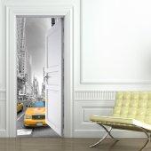 New York Door Stickers