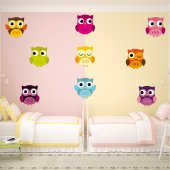 Owls Set Wall Stickers