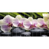 Pebbles Flowers - Tiles Wall Stickers