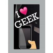 Plakat samoprzylepny - I love Geek