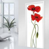 Poppies Door Stickers