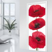Poppy Door Stickers