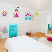 Princess Accessories Wall Stickers