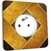 Prise décorée Abstrait doré