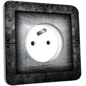 Prise décorée Abstrait gris