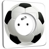 Prise décorée Ballon de foot Black&White 2