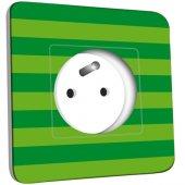 Prise décorée  Ballon de foot Fond vert