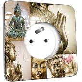 Prise décorée  Bouddha Zen