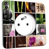 Prise décorée Bouddha Zen 4