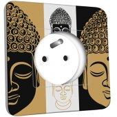 Prise décorée Bouddha Zen Black&Gold 1