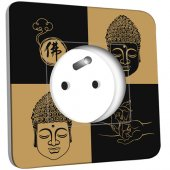 Prise décorée Bouddha Zen Black&Gold