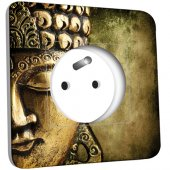 Prise décorée -  Bouddha Zoom Or 4