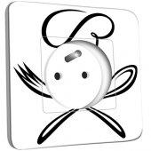 Prise décorée Cuisine Couverts Black&White Design 1