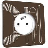 Prise décorée Cuisine Couverts Design 1
