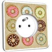 Prise décorée Cuisine Gâteaux Donuts