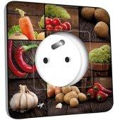Prise décorée Cuisine Life style Lègumes 10