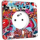Prise décorée  Graffiti HipHop
