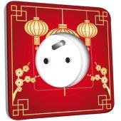 Prise décorée  Motif Chinois Lampions