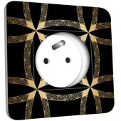 Prise décorée  Motif Oriental Black&Gold 1