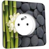 Prise décorée Nature-Pierres,Bambou Fleur 4