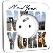 Prise décorée New York Lettres 1