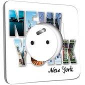 Prise décorée  New York Lettres