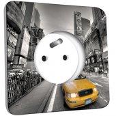 Prise décorée New York Taxi 01