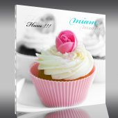 Quadro Plexiglass Cupcake