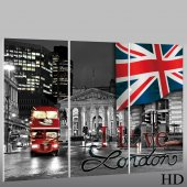 Quadro Triptico PVC London