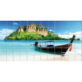 Sea Boat - Tiles Wall Stickers