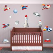 Spaceships Set Wall Stickers