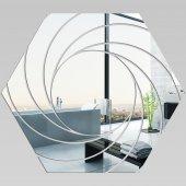 Specchio acrilico plexiglass - Esagono Spirali