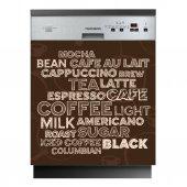 Spülmaschine Aufkleber coffee