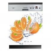 Spülmaschine Aufkleber Orange