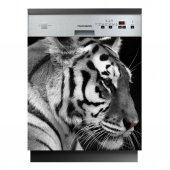 Spülmaschine Aufkleber Tiger