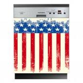 Spülmaschine Aufkleber USA-Flagge