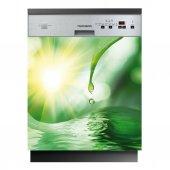 Spülmaschine Aufkleber Wasser