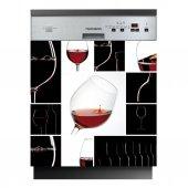 Spülmaschine Aufkleber Wein