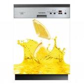 Spülmaschine Aufkleber Zitrone