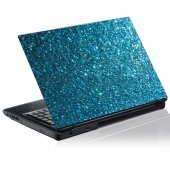 Sticker laptop exterior Cristale Albastre
