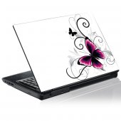 Sticker laptop exterior Fluturi
