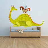 Sticker Pentru Copii Cavaler si Dragon