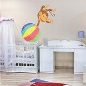 Sticker Pentru Copii Maimuta Balon