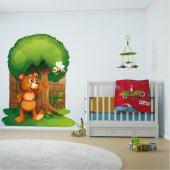 Sticker Pentru Copii Ursulet Albina