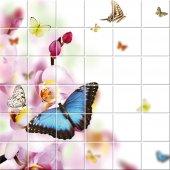 Sticker pentru faianta Flori Fluturi