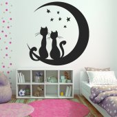 Sticker Pisici Luna