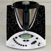 Sticker Thermomix TM 31 Banda fond Negru