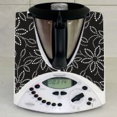 Sticker Thermomix TM 31 Floare Grafica Neagra