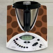 Sticker Thermomix TM 31 Rotund Ciocolatiu
